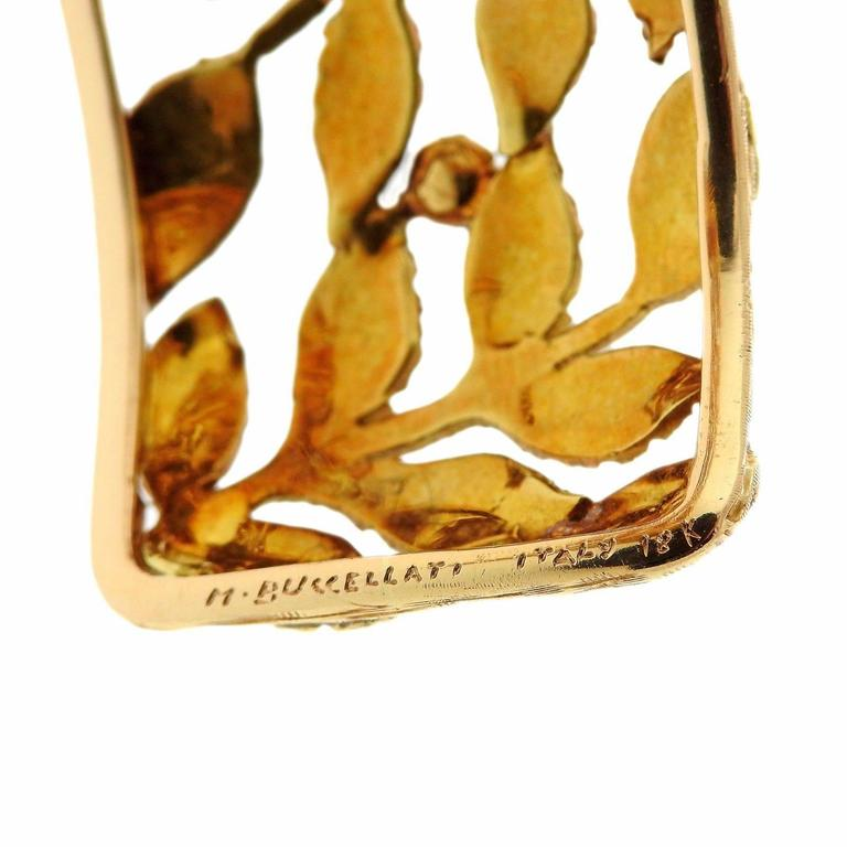 Mario Buccellati Classic Leaves Gold Cuff Bracelet In Excellent Condition For Sale In Lahaska, PA