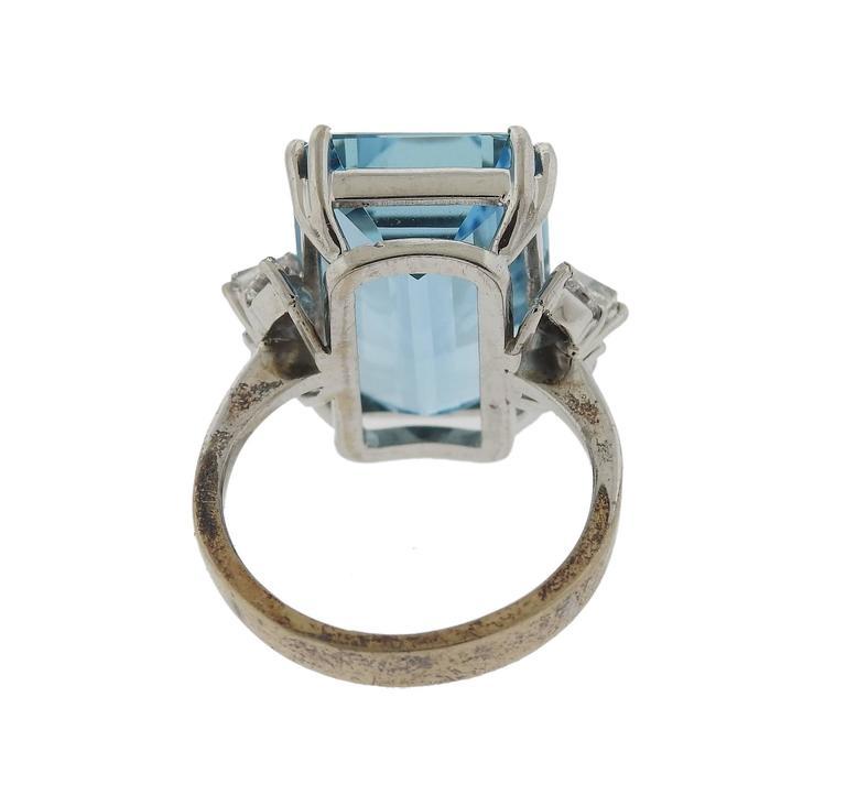 H Stern Aquamarine Diamond Gold Ring 4