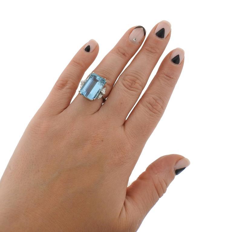 H Stern Aquamarine Diamond Gold Ring 3