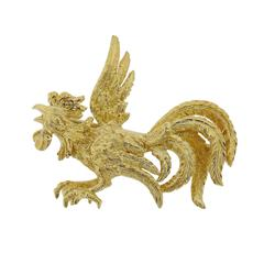 Buccellati Gold Rooster Brooch Pin
