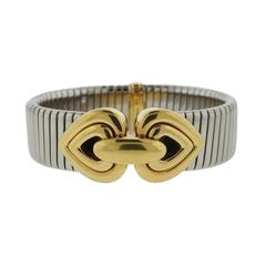 Bulgari Tubogas Gold and Stainless Steel Bracelet