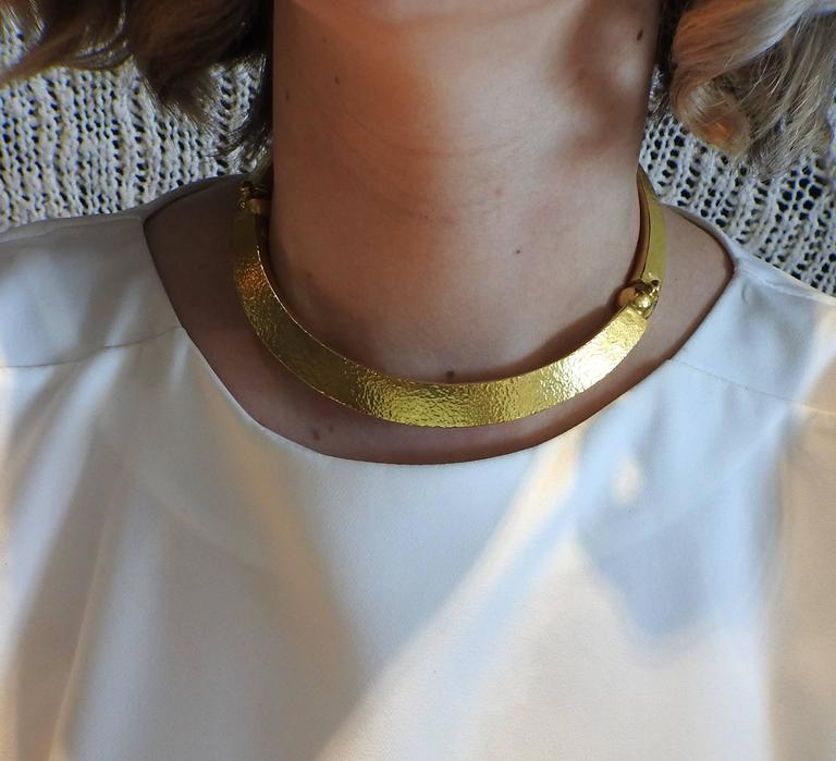 Ilias Lalaounis Gold Collar Necklace For Sale 2