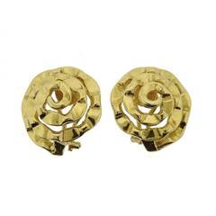 Cartier Aldo Cipullo Gold Swirl Earrings