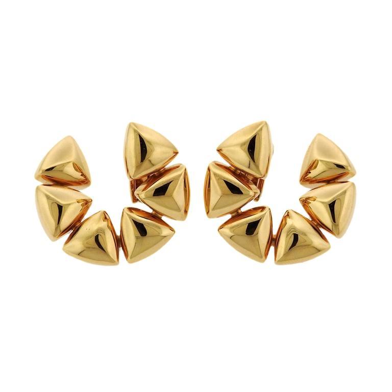 Vhernier Freccia Gold Earrings For Sale