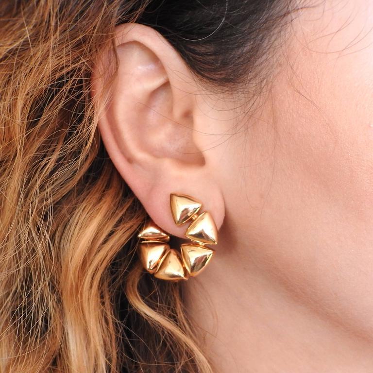 Vhernier Freccia Gold Earrings For Sale 1