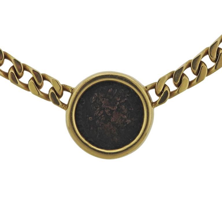 bulgari monete hadrian as roman empire ancient coin gold necklace 2