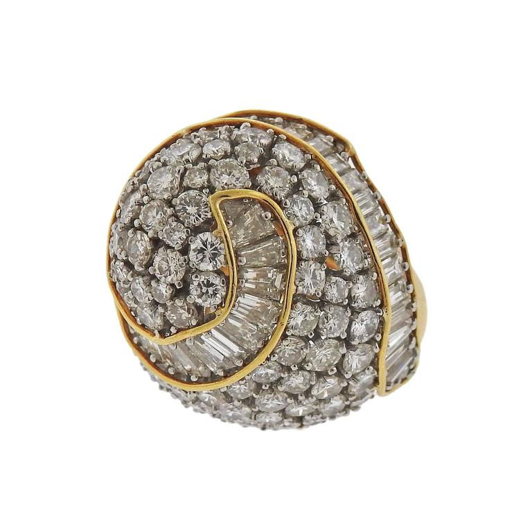10 carat gold platinum dome ring for sale at 1stdibs