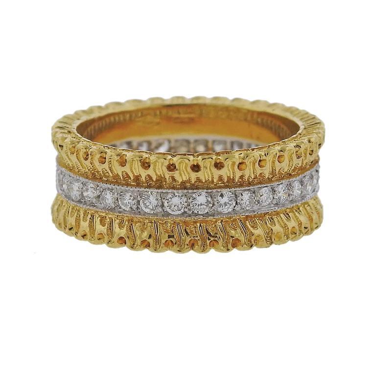 Buccellati Eternelle Gold Diamond Wedding Band Ring 1