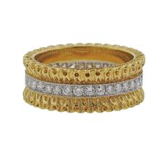 Buccellati Eternelle Gold Diamond Wedding Band Ring