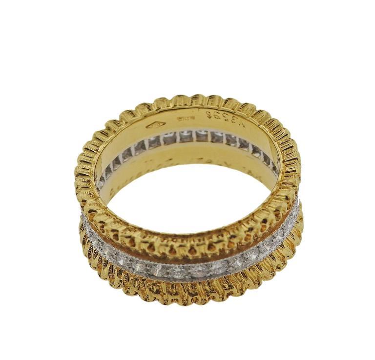 Buccellati Eternelle Gold Diamond Wedding Band Ring 2
