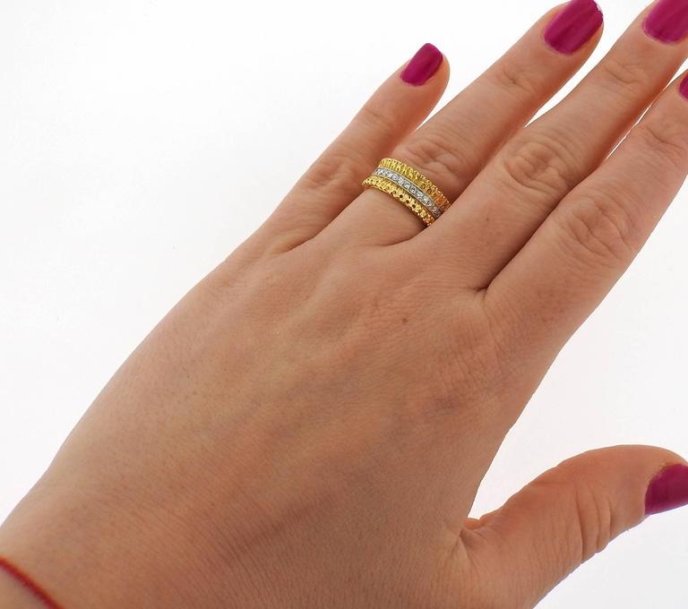 Buccellati Eternelle Gold Diamond Wedding Band Ring 3