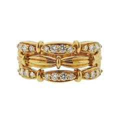 1990s Tiffany & Co. Diamond Gold Ring