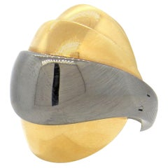Mattia Cielo Armadillo Gold Movable Dome RIng