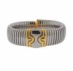 Bulgari Tubogas Gold Stainless Steel Bracelet