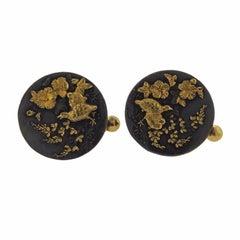 Shakudo Gold Large Cufflinks
