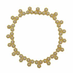 Buccellati Gold Diamond Flower Motif Necklace