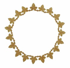 Buccellati Gold Leaf Necklace
