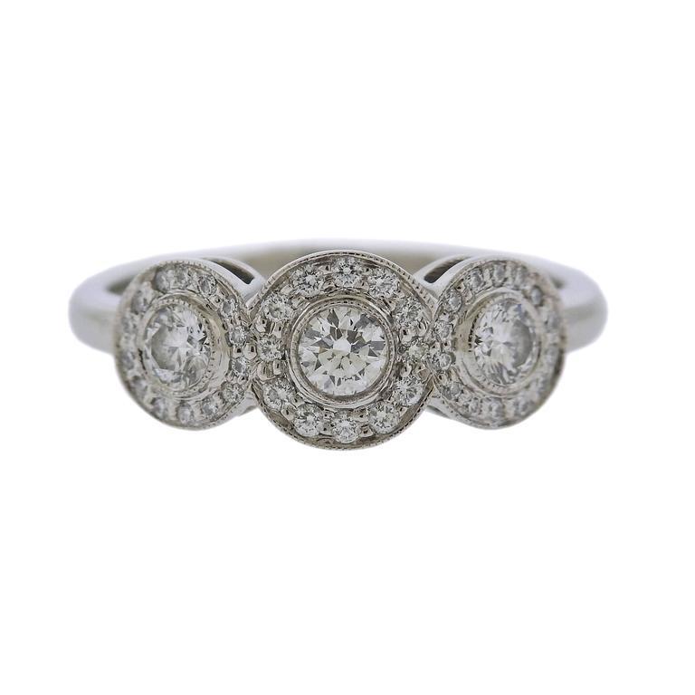 Tiffany & Co. Circlet Platinum Diamond Ring For Sale
