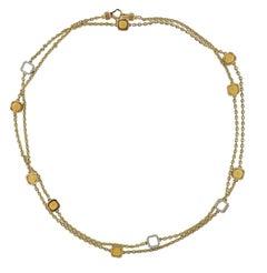 Ivanka Trump Gold Diamond Citrine Long Necklace