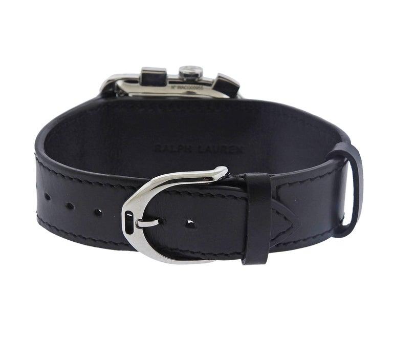 Men's Ralph Lauren Stainless Steel Black Dial Chronograph Automatic Wristwatch