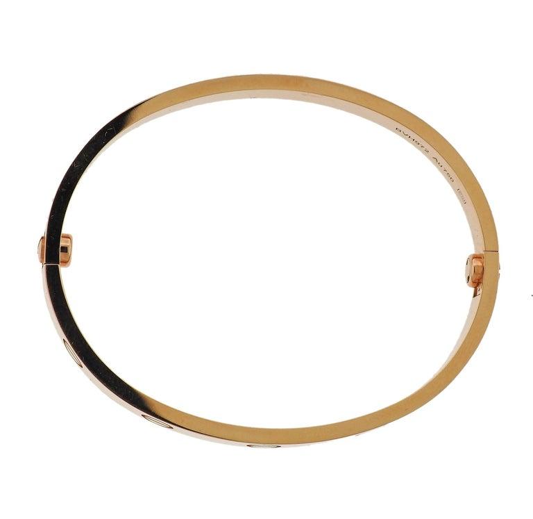 Cartier Love Rose Gold Bangle Bracelet 3