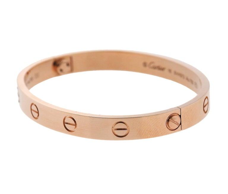 Cartier Love Rose Gold Bangle Bracelet 4