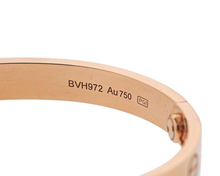 Cartier Love Rose Gold Bangle Bracelet 5