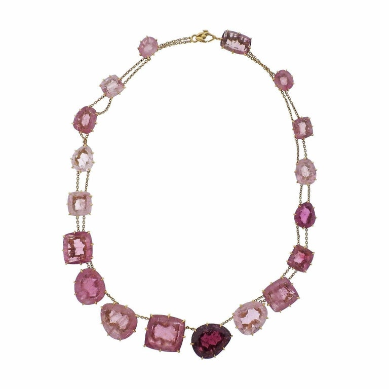 H. Stern Pink Tourmaline Gold Necklace