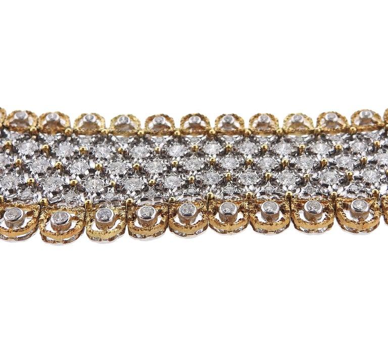 Women's Exquisite Buccellati Diamond Gold Necklace For Sale