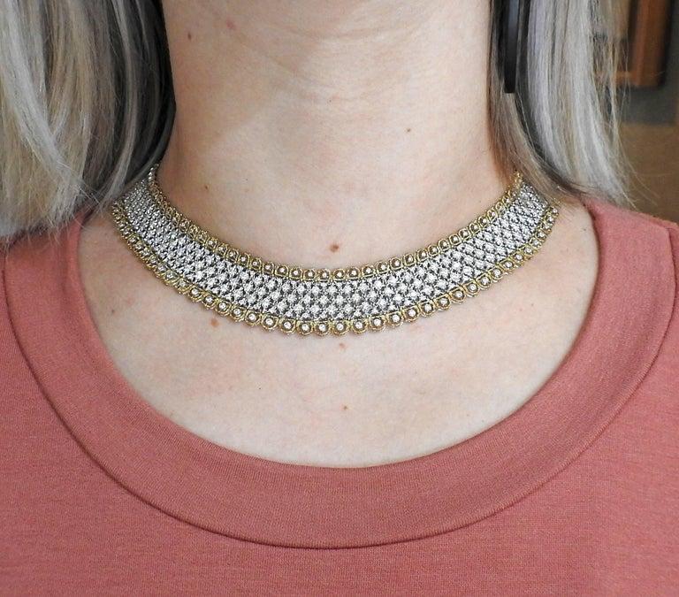 Exquisite Buccellati Diamond Gold Necklace For Sale 3