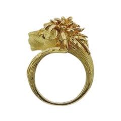 J. P. Bellin Diamond Gold Lion Ring