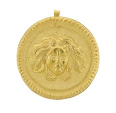 Buccellati Large Gold Pendant Medallion
