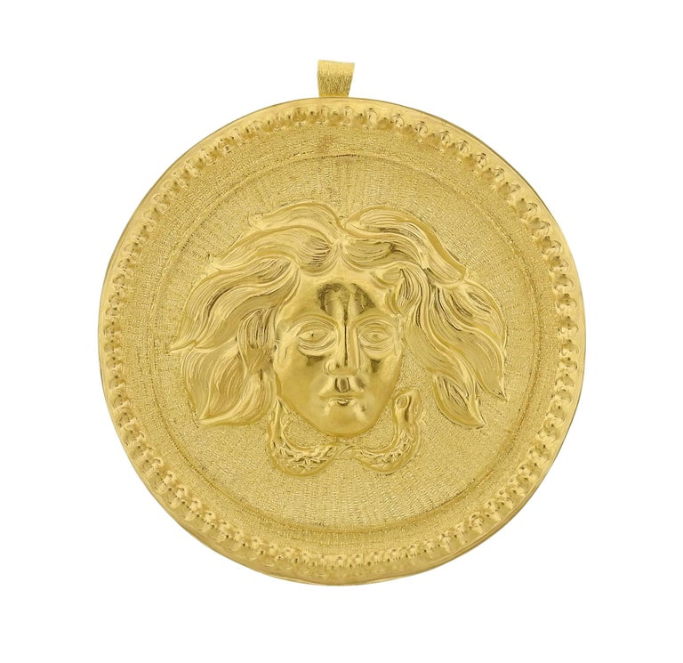 Buccellati Large Gold Pendant Medallion