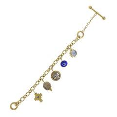 Elizabeth Locke Gold Charm Bracelet