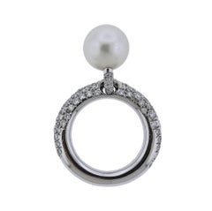 Mikimoto South Sea Pearl Diamond Gold Ring