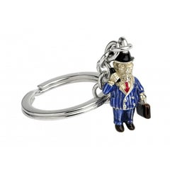 Deakin & Francis Enamel Silver Businessman Key Chain