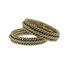 David Webb Gold Stackable Ring Guard Set