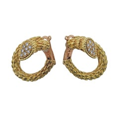 Boucheron Diamond Gold Earrings