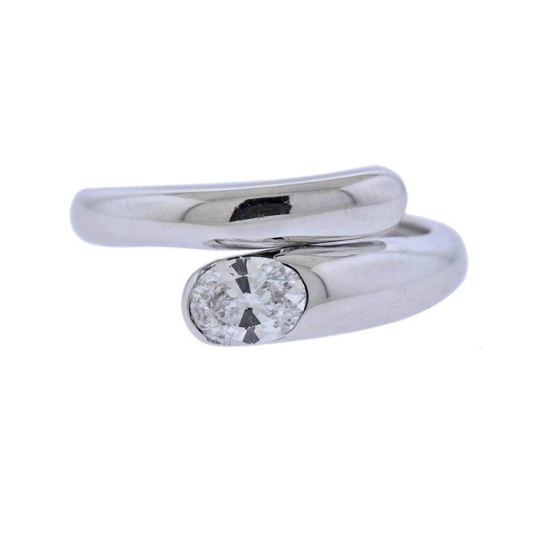 Bulgari Diamond Gold Bypass Ring