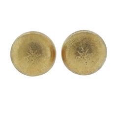 Buccellati Macri Large Gold Button Earrings