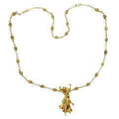 Salvador Dali Gold Carmen La Clotalos Necklace