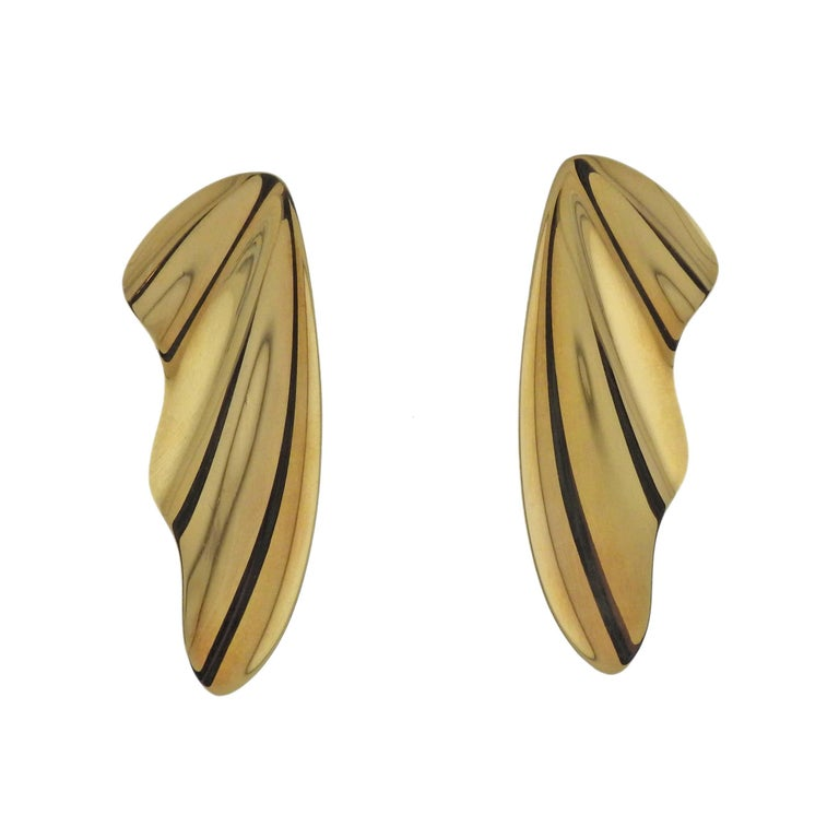 Tiffany & Co. Elsa Peretti Gold Wing Earrings