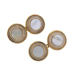 Cartier Trinity Mother-of-Pearl Gold Cufflinks