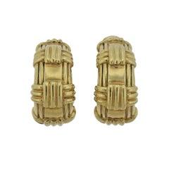 David Webb Large Gold Hoop Earrings