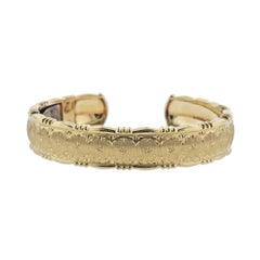 Buccellati Yellow Gold Cuff Bracelet