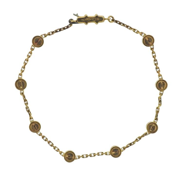 Vintage Cartier Love Station Gold Bracelet