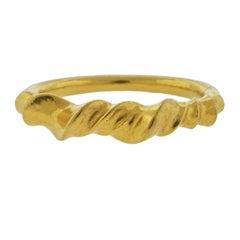 Lalaounis Greece Swirl Motif Gold Bracelet