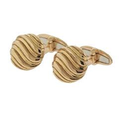Buccellati Rose Gold Wave Motif Cufflinks