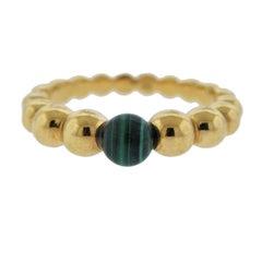 Van Cleef & Arpels Perlee Couleurs Variation Malachite Gold Ring