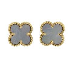 Van Cleef & Arpels Sweet Alhambra Mother-of-Pearl Gold Earrings